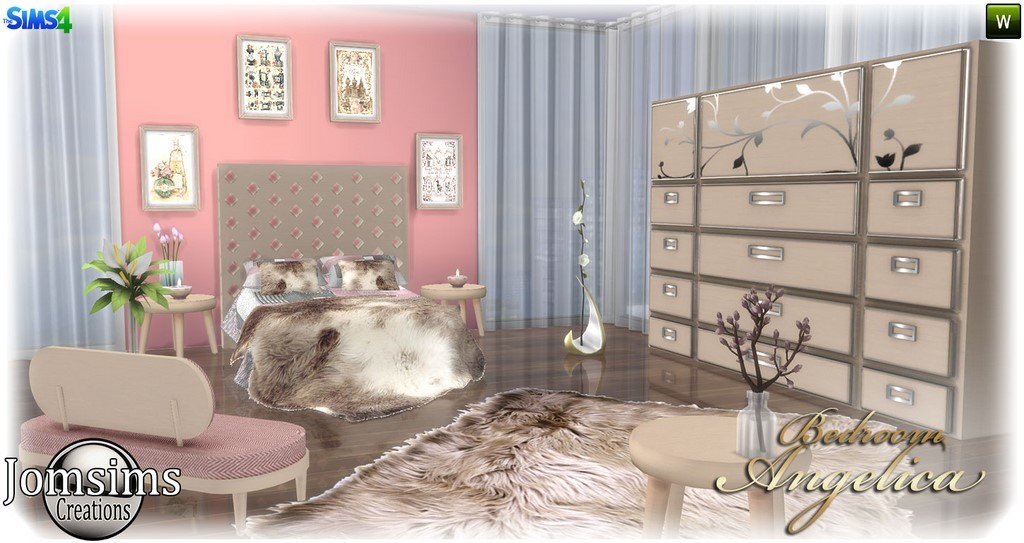 Chambre adulte sims 4 for Decoration maison sims 4