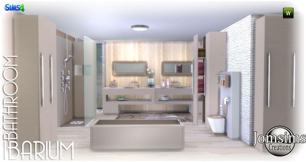 Salle de bain sims 4 for Bathroom ideas sims 4