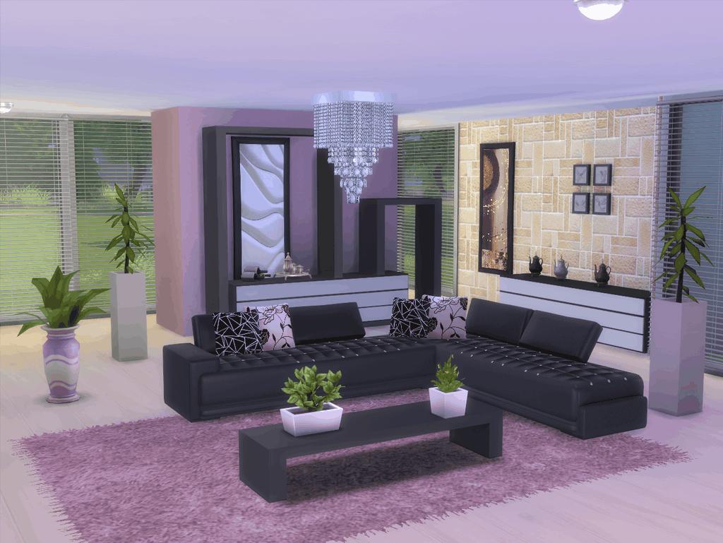 Salon violet et gris tapis salon violet gris pour plus - Salon violet et noir ...