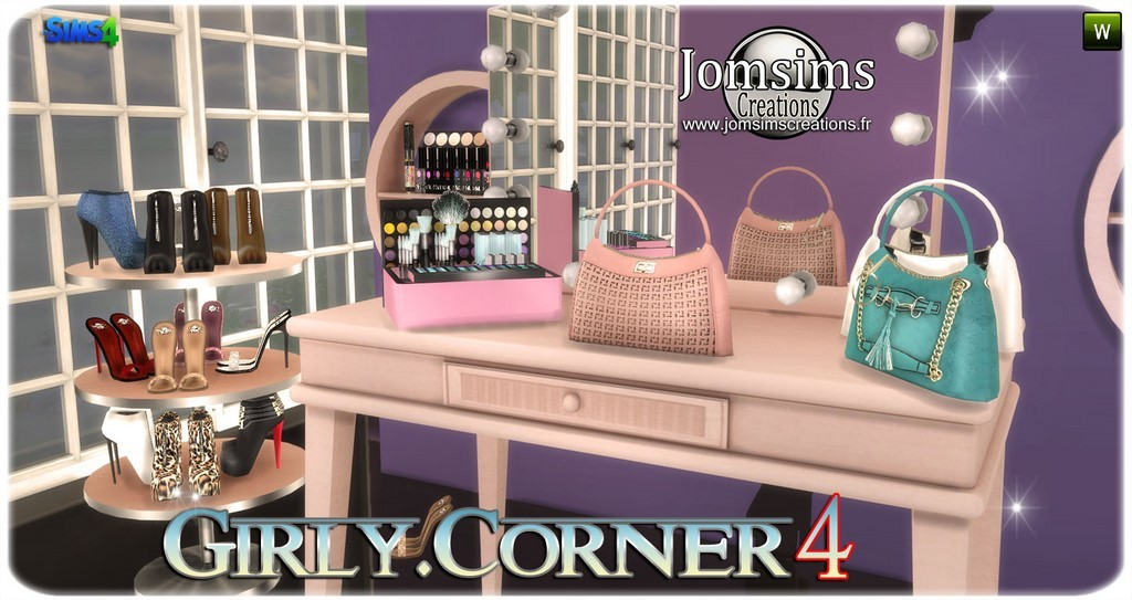 Sims 4 fashion decor room