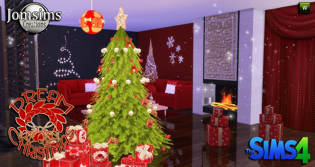 Decoration de noel sims 3 for Salle a manger sims 4