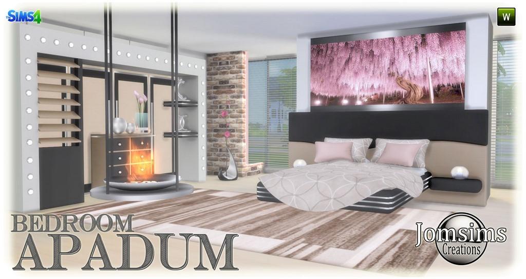 apadum chambre sims 4 modern chaleureux et confortable pour cette chambre coucher adulte en 4 teintes lit set pour le lit chemine metal tapis