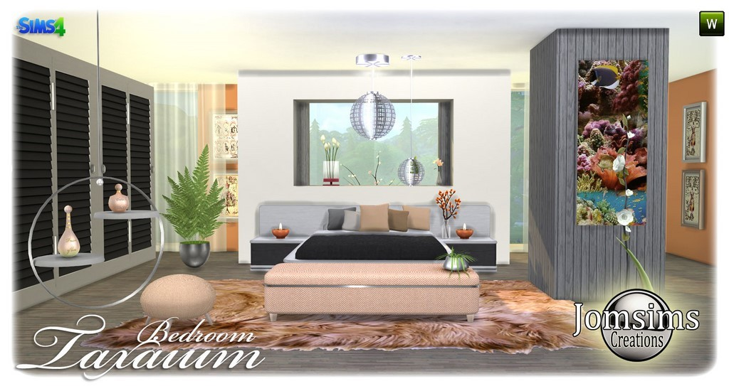 Chambre adulte sims 4 for Salle a manger sims 4