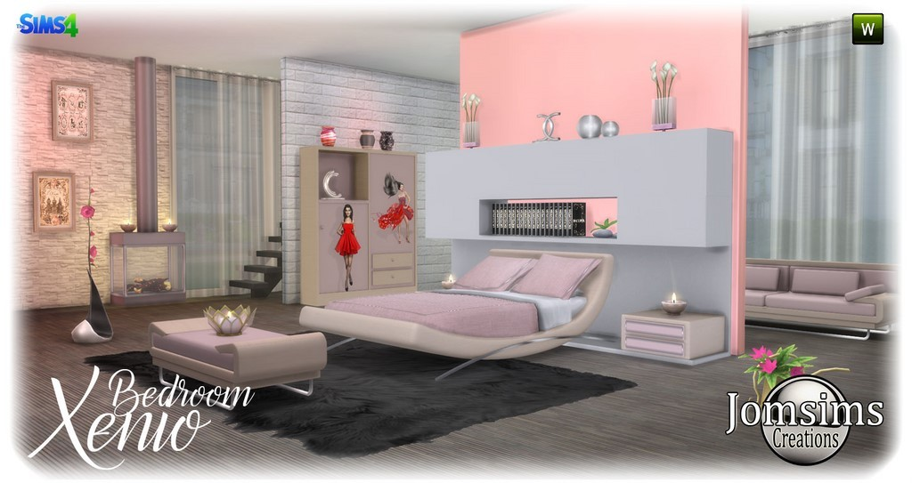 chambre adulte sims 4 : 2 40 from www.jomsimscreations.fr size 1024 x 543 jpeg 117kB