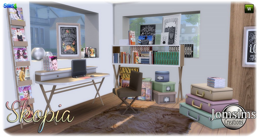 Bureau sims 4 for Sims 4 meuble a telecharger