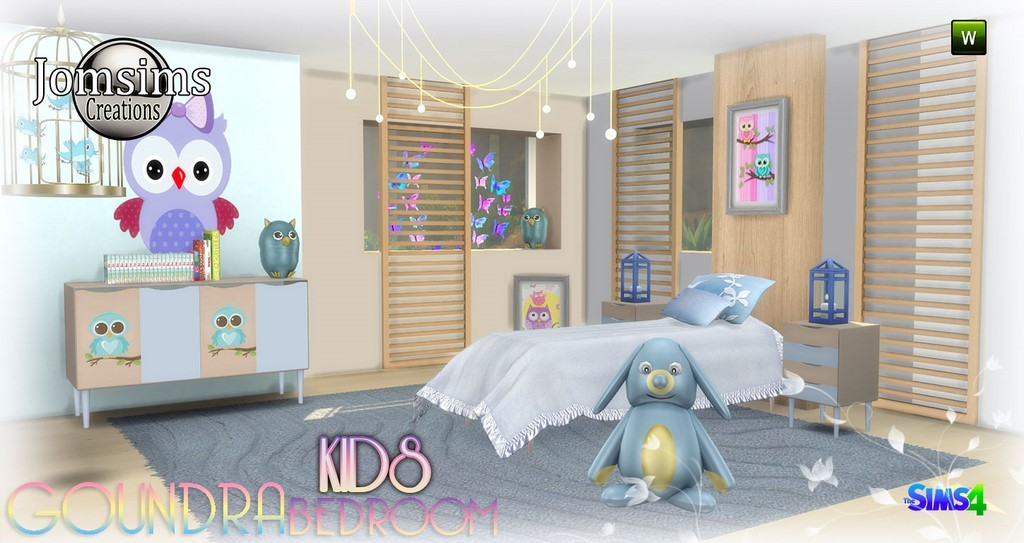 chambre enfant sims 4. Black Bedroom Furniture Sets. Home Design Ideas