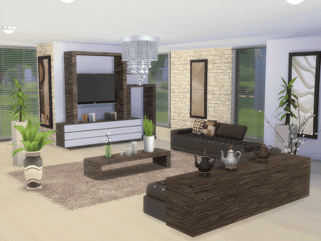Hereu0027s To Your Sims A New Lounge Sims 4. The Shades Are.Brown. Black Grey  And White. For The Sofa. Find In This Set 1 Sofa. Cushions For Sofa. Coffee  Table. ...