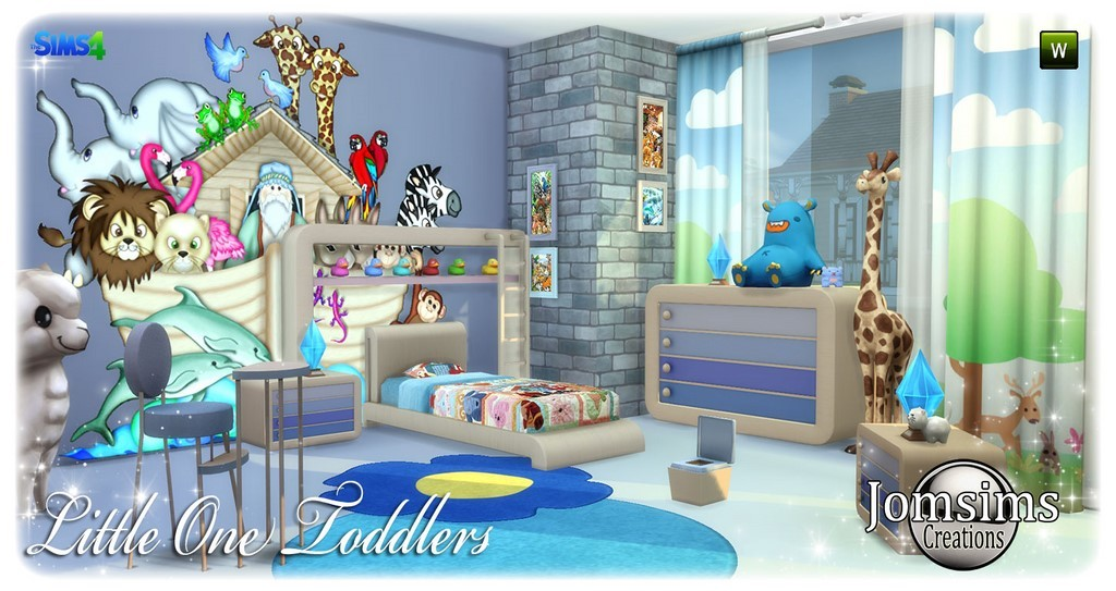 New Little One Toddlers bedroom click image to download. room child sims 4