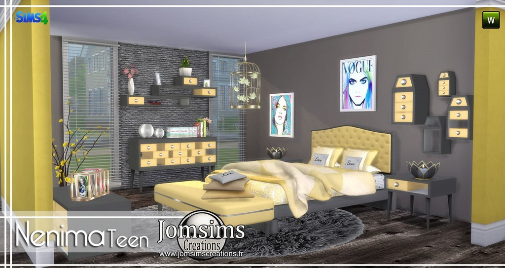Teen bedroom sims 4 for Bedroom designs sims 4