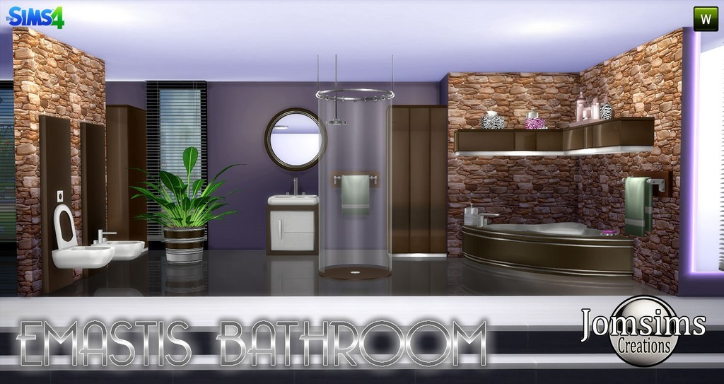 salle de bain sims 4. Black Bedroom Furniture Sets. Home Design Ideas