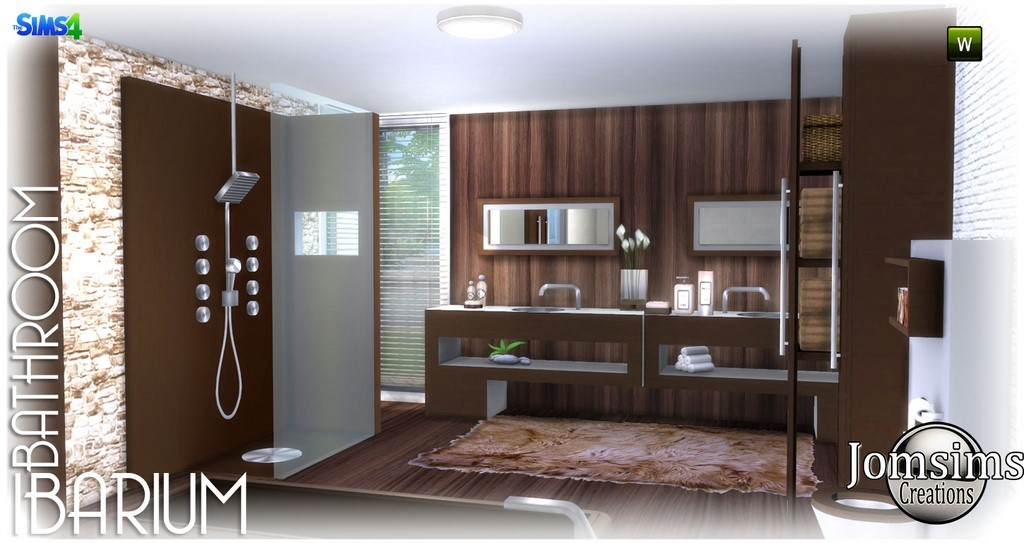 Außergewöhnlich Bathroom, Ibarium. Modern, In 4 Colors. Shower. 2 Washbasins.1 Toilet, With  Deco.1 Shower. 2 X Set, Objects Various Decorations. 2 Furniture,  Decorative.