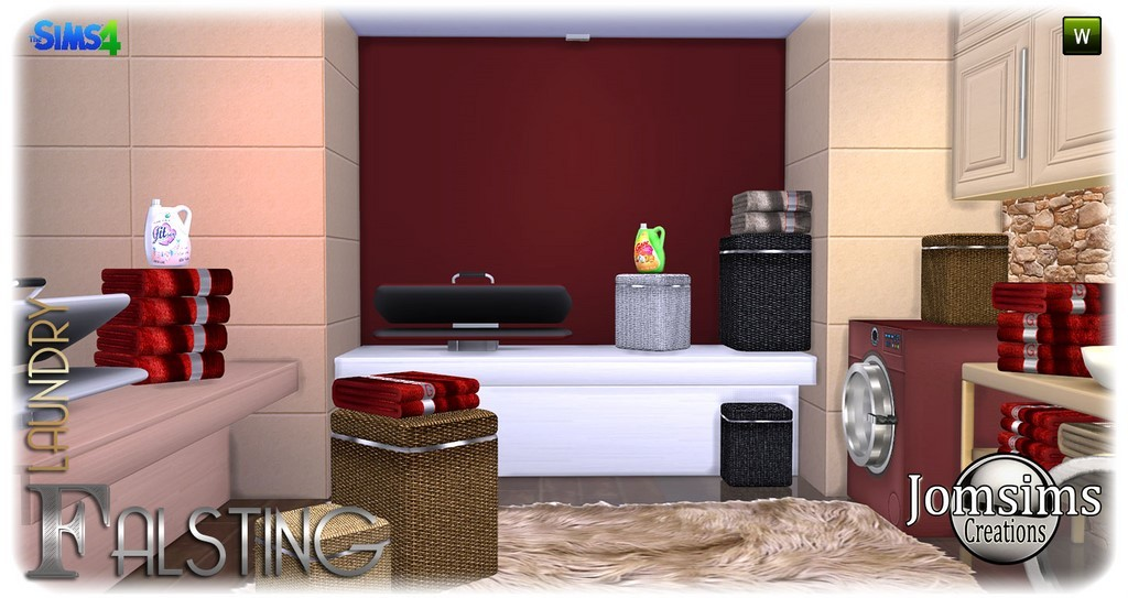Here falsting laundry sims 4 warm for your interior with modern and original objects press cabinet deco 2 washing machines 1 open door 1 door close