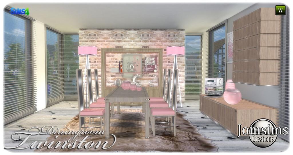 salle à manger sims 4