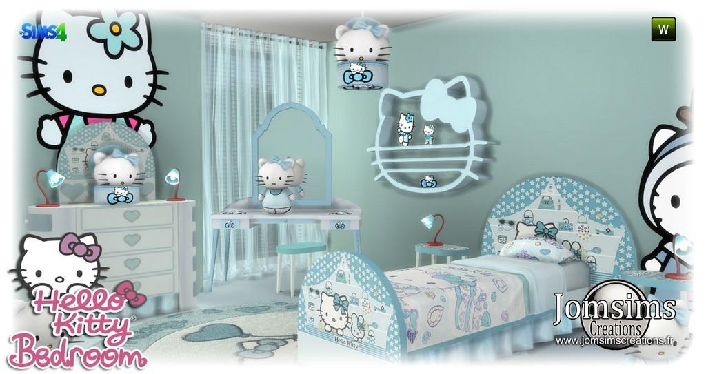 HELLO Kitty Chambre Enfants. 12 Objets Sur Le Theme Hello Kitty. Le Set Est  Crée En 4 Teintes. De La Douceur . Happy Simming!